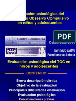 Evaluacion Psicologica Del Trastorno Obsesivo Compulsivo en Ninos y Adolescentes