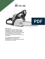 Manual Instrucciones Motosierra Sthill 170