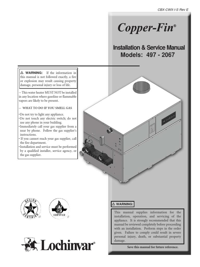 Nice Lochinvar Heat Exchanger Failure Elaboration - Electrical ...