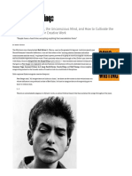 Bob Dylan on Sacrifice, The Unconscious Mind, And How to Cultivate the Perfect Environment for Creative Work – Brain Pickings