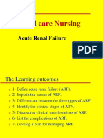Acute Renal Failure Lecture 1 Critical Care Nursing New