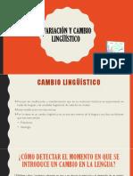 Variación y Cambio Lingüístico