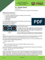 CamJam EduKit 3 - Robotics Worksheet 6 - Distance