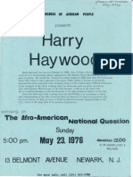 CAP Flyer for Harry Haywood Event 1976
