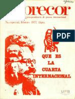 Inprecor Especial 1977 Febrero Que Es La IV Intenacional