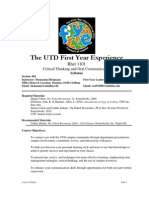 UT Dallas Syllabus for rhet1101.004.10f taught by Thomasina Hickmann (hickmann)