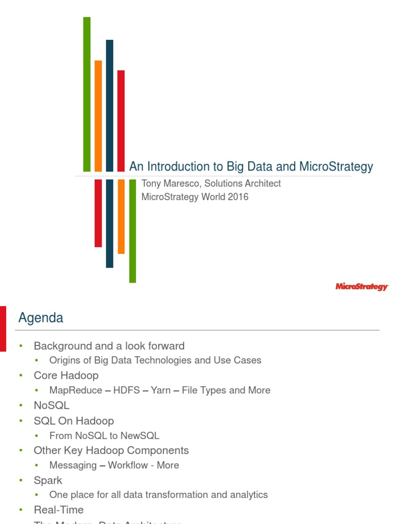 An Introduction to Big Data and MicroStrategy | Apache Hadoop | Map Reduce