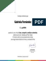 Certificado Crear, compartir y reutilizar contenidos - Gabriela Fernández.pdf
