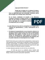 Emilia Ferreiro Segundo Parcial