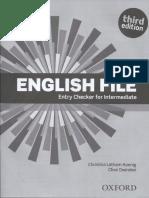 English file third edition. Entry checker.pdf