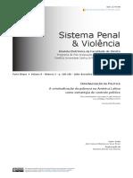 A Criminalização Da Pobreza Na América Latina Como Estratégia de Controle Político
