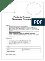 III Medio Prueba de Vectores y Sistemas de Ecuaciones