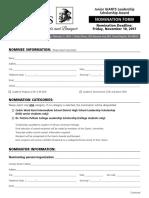 junior giants nomination application
