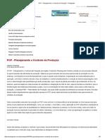 PCP - Planejamento e Controle Da Produção - Portogente