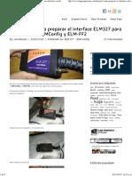 TUTORIAL_ Como Preparar El Interface ELM327 Para Utilizarlo Con ELMConfig y ELM-FF2