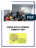 Congatulations Group 966