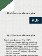 Cap 6 Qualidade Na Manutenção (1)