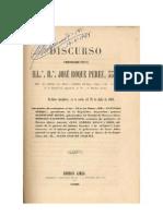 Sarmiento Derqui, Mitre Gr 33 Por Jose Roque Perez