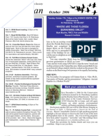 October 2006 Wingspan Wingspan Newsletter St. Petersburg Audubon Society