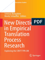 Carl, Bangalore e Schaeffer (2016) New Directions in Empirical Translation Process Research