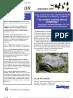 Sept 2007 Wingspan Wingspan Newsletter St. Petersburg Audubon Society