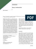 Revisiting Energy Efficiency Fundamentals
