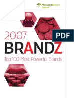 Millward Brown Optimor - BRANDZ Top 100 Brand Ranking Report