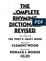 literature the complete rhyming dictionary revised clement wood