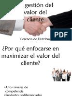 La Gestión Del Valor Del Cliente