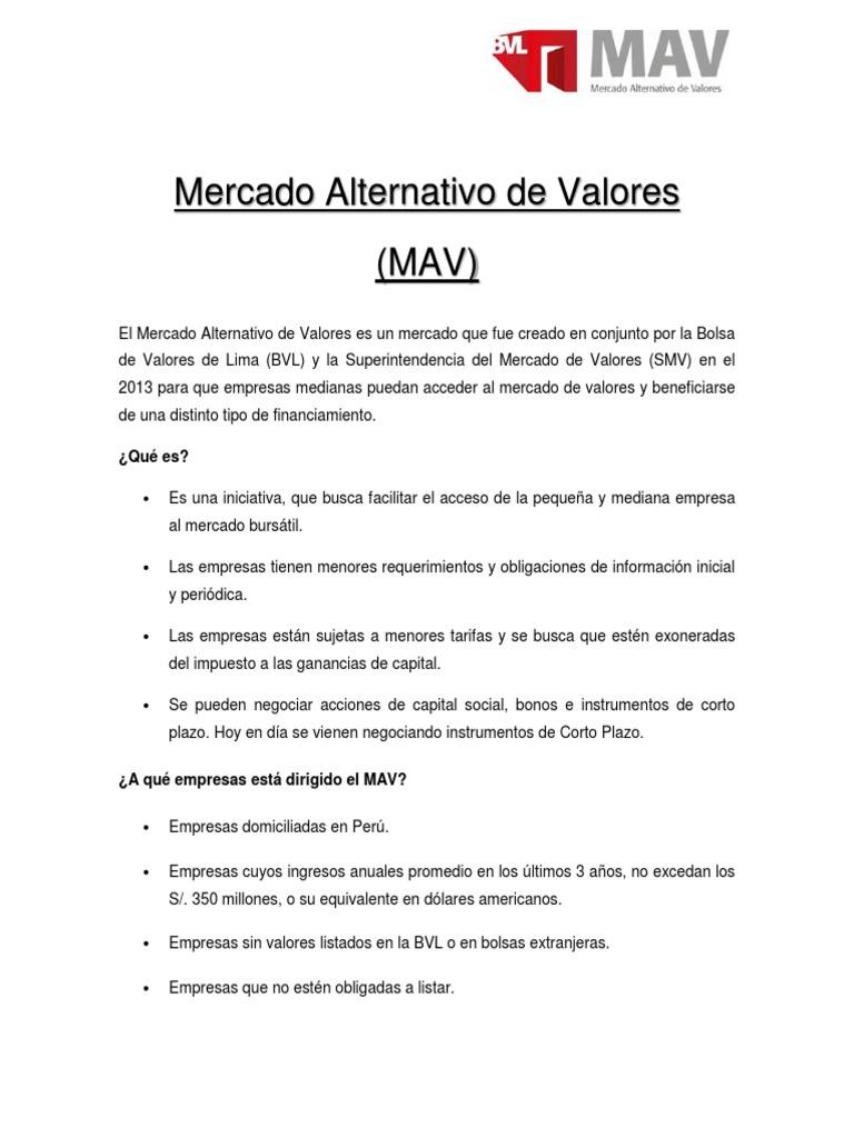 Mercado alternativo de valores mavcx thecheapjerseys Gallery