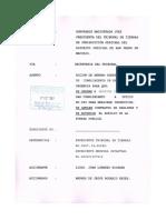 Accion de Amparo de Cumplimiento de Extrema Urgencia Contra Director Mensura Catastral Et Al