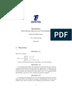 Lista - Distribuições Discretas de Probabilidade