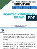Reglamento Interior de Trabajo 2017