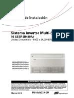 MS-SVN37A-EM Manual Instalacion Piso Techo Multi Split Inverter Trane
