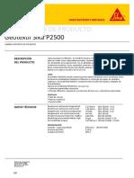 Geotextil Sika P2500 PDS