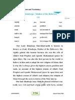 Reading Texts and Vocabulary