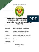 Organizador Gráfico Sobre La Investigación Científica y Su Relación Con La Investigación Policial - s3 Pnp Barrera Pacaya