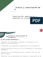 Archivo y Clasificacion de Documentos.
