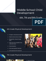 middle school child development