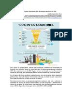 Roteiro para 139 países alcançarem 100% de energias renováveis até 2050