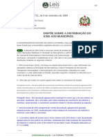 Lei Ordinaria 7721 1989 Santa Catarina SC Consolidada [12!12!1989]