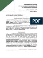 Demanda de Rectifiacion de Acta de Nacimiento.