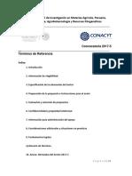 2017-5 Sagarpa Têrminos Referencia