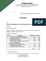 Proforma Pronet 00389 Cuerpo BomberosSMB