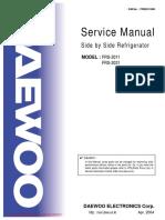Daewoo FRS 2031 Fridge Freezer Operating Instructions User Guide Manual