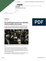 Carta Capital - Reforma Política