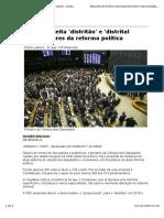 Matéria Jornalística da Folha - Reforma Política