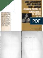 Gunder Frank, Andre Et. Al - Economía Política Del Subdesarrollo en Am. Latina, Signos, 1970