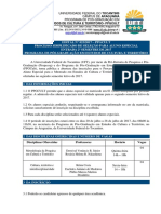 Edital Nº 023.2017 - PPGCult-Processo Simplicado de Seleção Para Aluno Especial