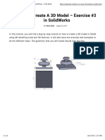 How to Create a 3D Model - Exercise #3 in SolidWorks - CAD Mode